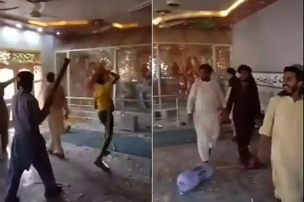 Siddhivinayak temple was vandalized in Punjab province of Pakistan mob entered with sticks