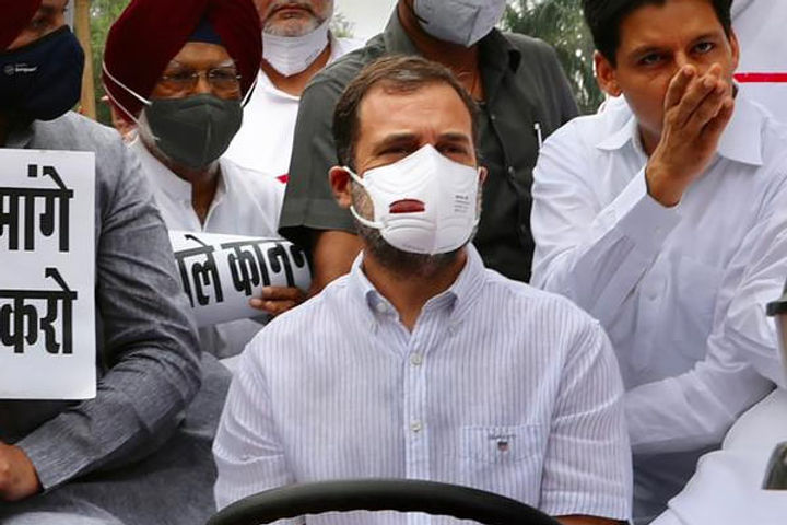 rahul gandhi in action along with opposition leaders will go to jantar mantar in support of farmers