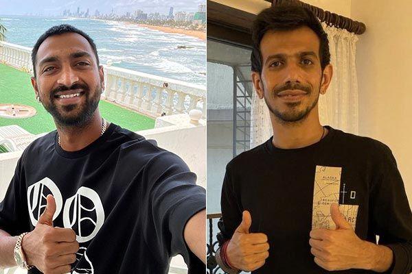 Yuzvendra and Krunal returned to India were infected in Sri Lanka