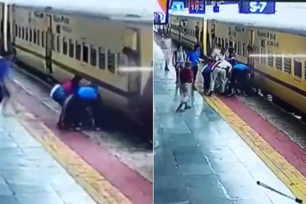 Fellow Passengers Saved The Life Of A Woman In Indore Who Was Trying To Board A Moving Train