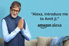 Alexa and Amitabh Bachchan