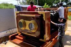 startup designed a camera car a life size replica of a vintage camera