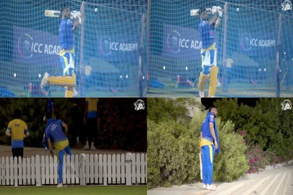 Dhoni became aggressive before the second leg, hit six sixes first,