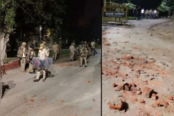 Stone pelting and firing between students of Rajaram and Birla Hostel in BHU