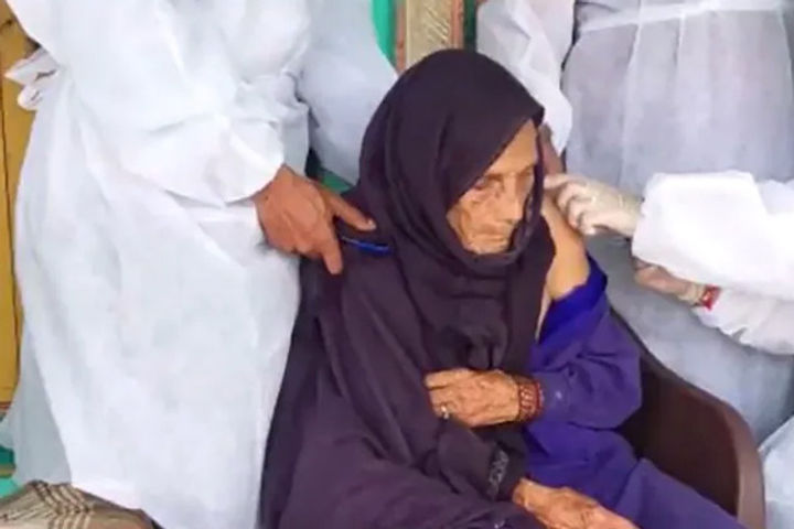 120-year-old gets vaccine