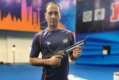 Sinharaj won bronze medal in mens 10m air pistol event