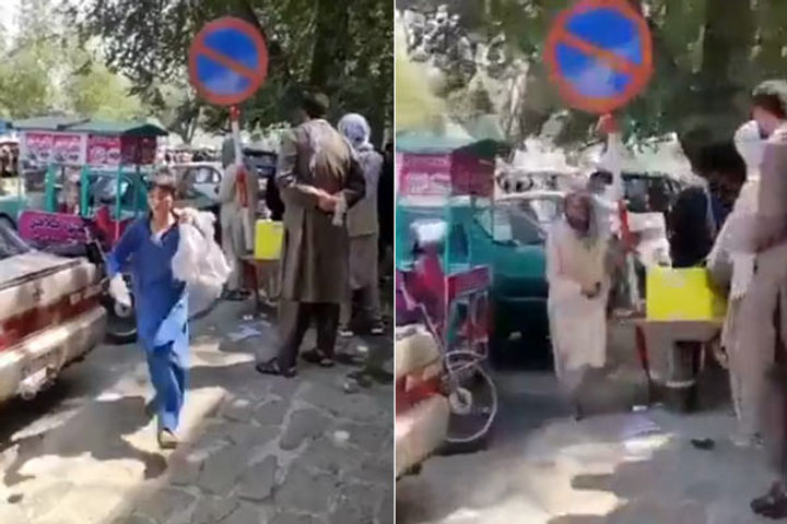 Protest In Afghanistan Women Took To The Street In Kabul Shouted Slogans Of Murdabad Pakistan