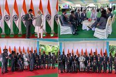 PM Narendra Modi meets Indian Para athletes
