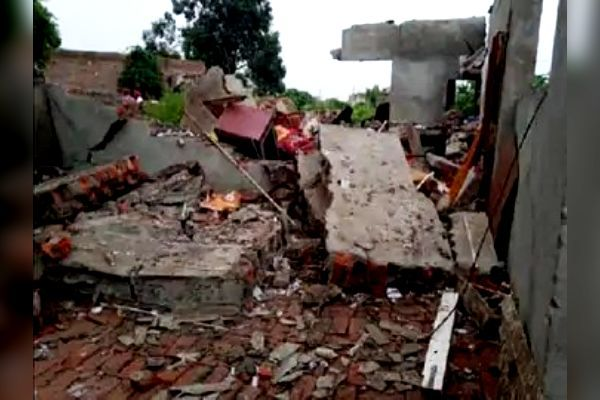 Explosion while making firecrackers in Rajpura, two children died