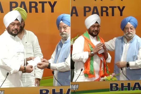 Inderjeet Singh, grandson of former President Giani Zail Singh, joins BJP in the presence of Union M