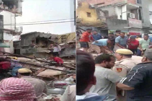 Four Storey Building Collapses In Sabzi Mandi Area In New Delhi