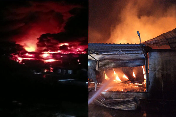 Massive fire breaks out in godown of online grocery store in Pune, goods worth lakhs ashes