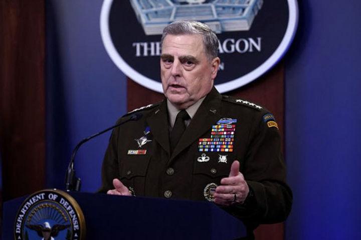 US army head secretly called China