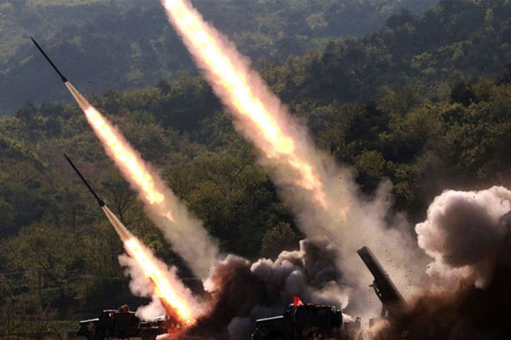 North fires 2 ballistic missiles