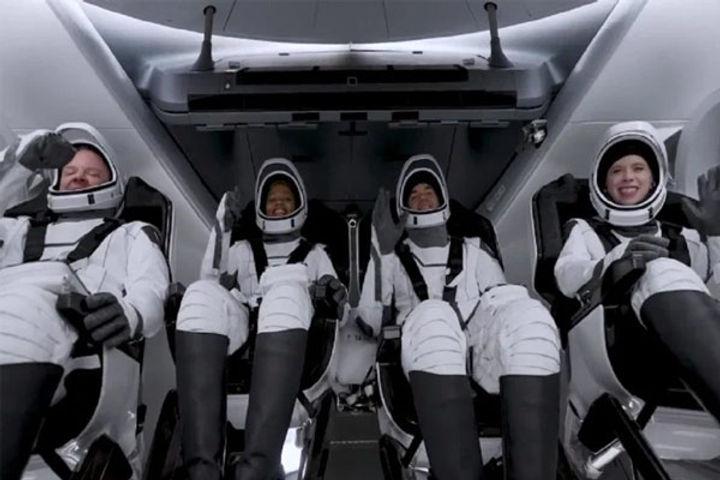 SpaceX sent four civilians into space