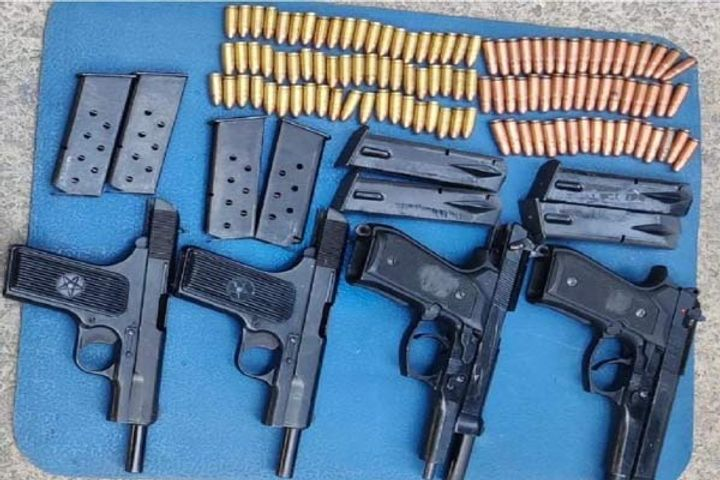 Weapons consignment recovered in Pulwama, search operation continues
