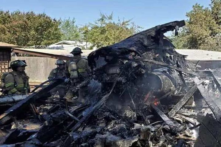 US military training jet crashes in residential area in Texas, five injured