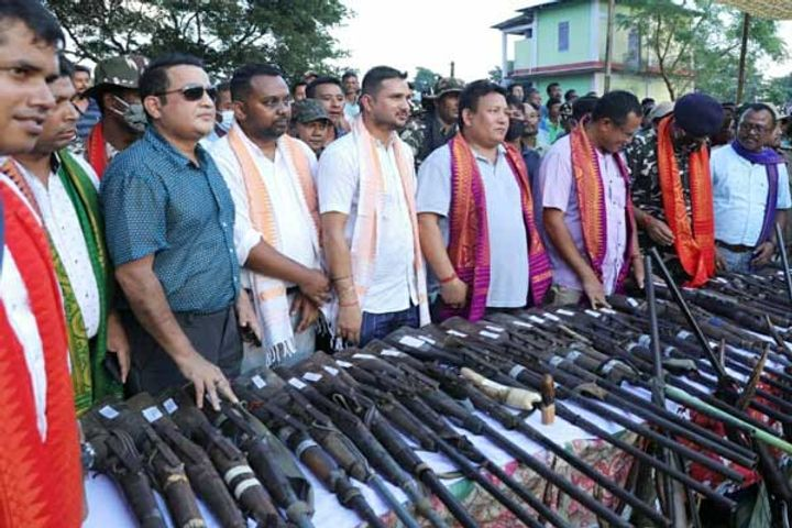 57 poachers surrender arms in Assam Bodoland Territorial Region