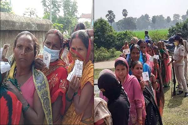 Bihar Panchayat elections EVM problem in Munger Tarapur delay in voting at many places