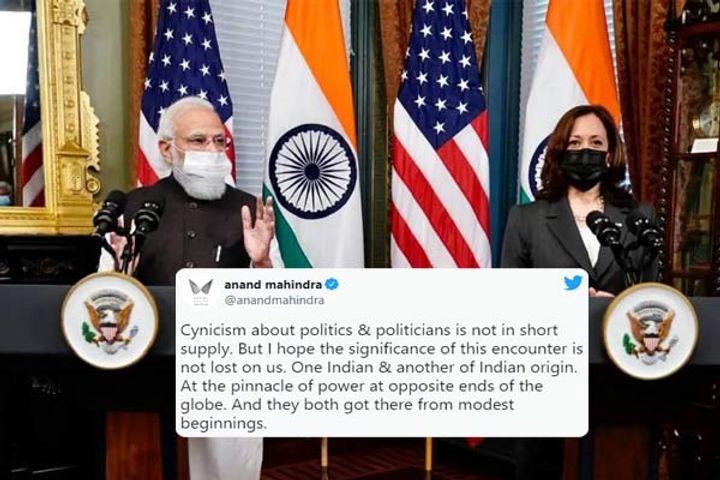Anand Mahindra on PM Modi meet with Kamala Harris