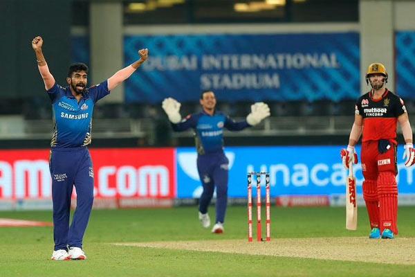 Bangalore beat Mumbai by 54 runs