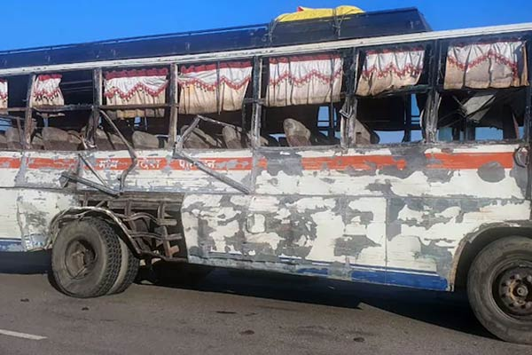 Bus rams into Dumper