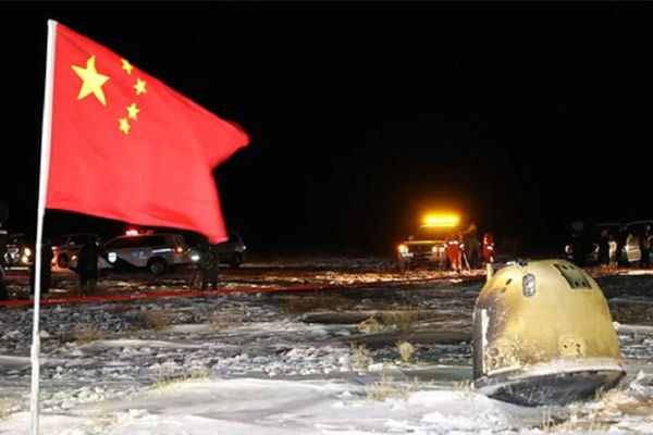 china brought samples from moon rocks to earth