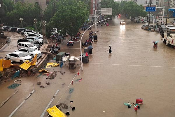 floods caused by torrential rains in China