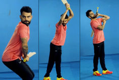 Virat Kohli mimics Shikhar Dhawan