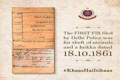 First FIR by Delhi Police