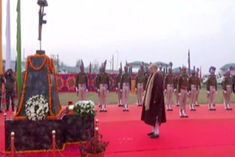 Amit Shah pays tribute to 40 martyred soldiers of Pulwama attack, Lieutenant Governor Manoj Sinha wa